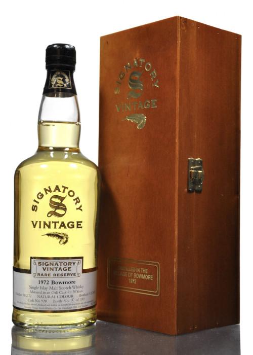 Single Malt Scotch Whisky Signatory Vintage Rare Reserve Bowmore 1972 – 700mL