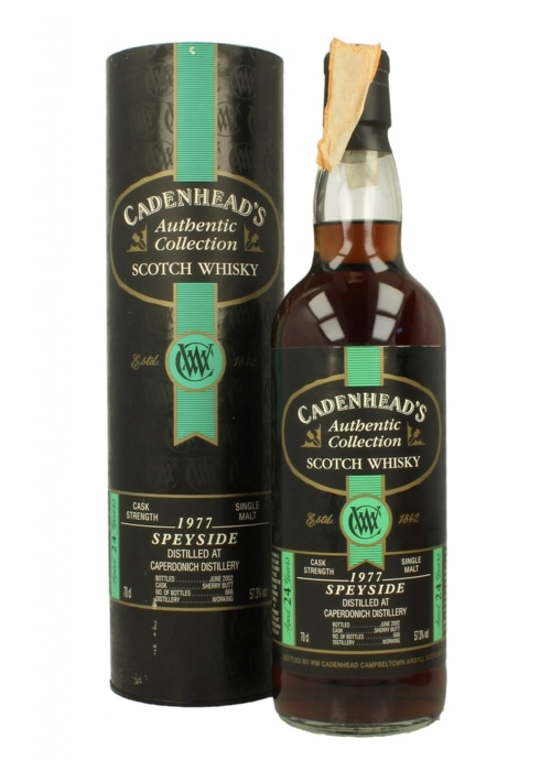 Speyside Single Malt Scotch Whisky Cadenhead's 24 years Caperdonich 1977 – 700mL