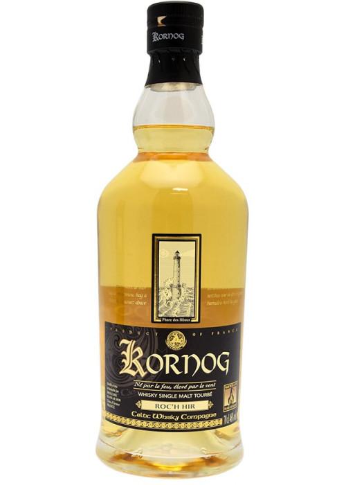 Kornog Single Malt Tourbé Whisky Breton Roc'H Hir Glann ar Mor Distillery – 700mL