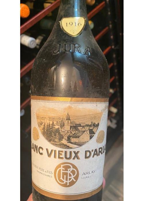 Côtes du Jura Blanc Vieux d'Arlay Bourdy Père & Fils 1916 – 750mL (bouteille de collection)