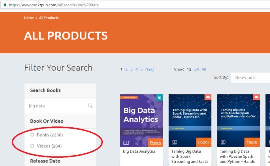 Livros de Big Data Packt