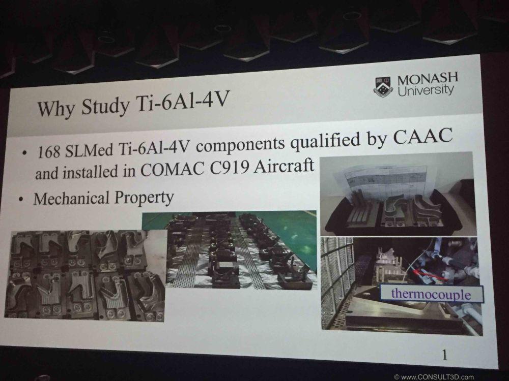 SLM parts on COMAC C919 aircraft