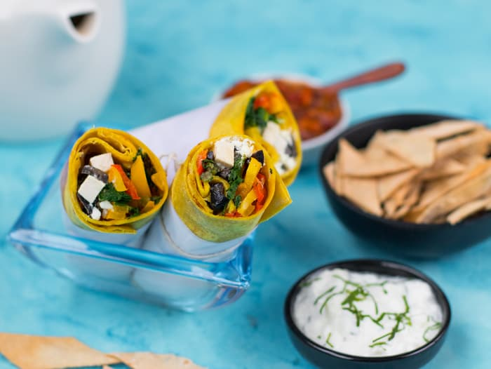 Greek Cottage Cheese & Spinach Wraps