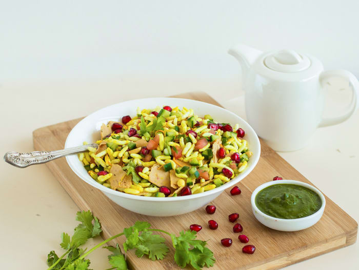 Masala Bhel with Baked Sev