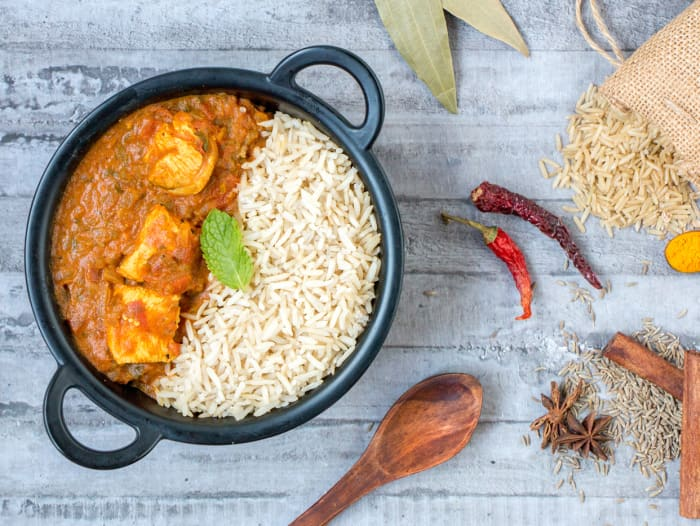 Chicken Curry & Jeera Brown Rice