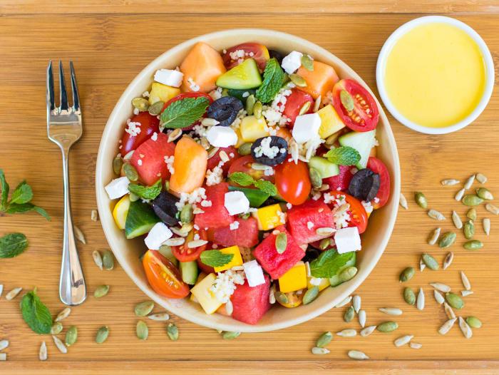 Summery Feta-Melon & Millet Salad