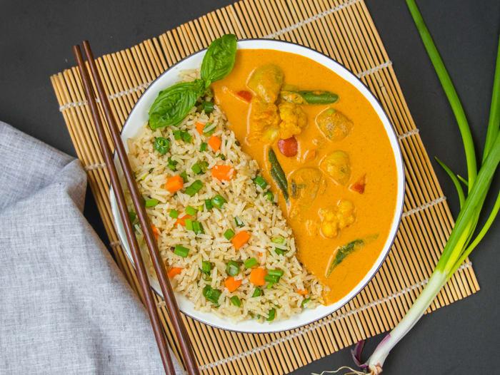 Massaman Veg Curry & Thai Rice Bowl
