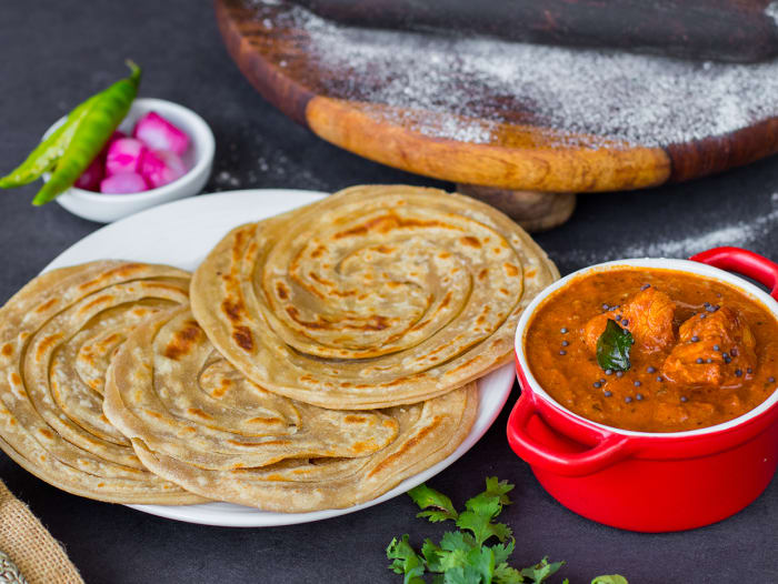 Chicken Chettinad & Lachha Paranthas Meal