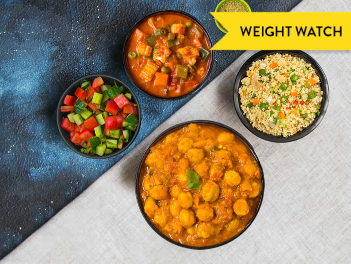 Weight Watch: Millet, Bhuna Sabzi & Chole Meal