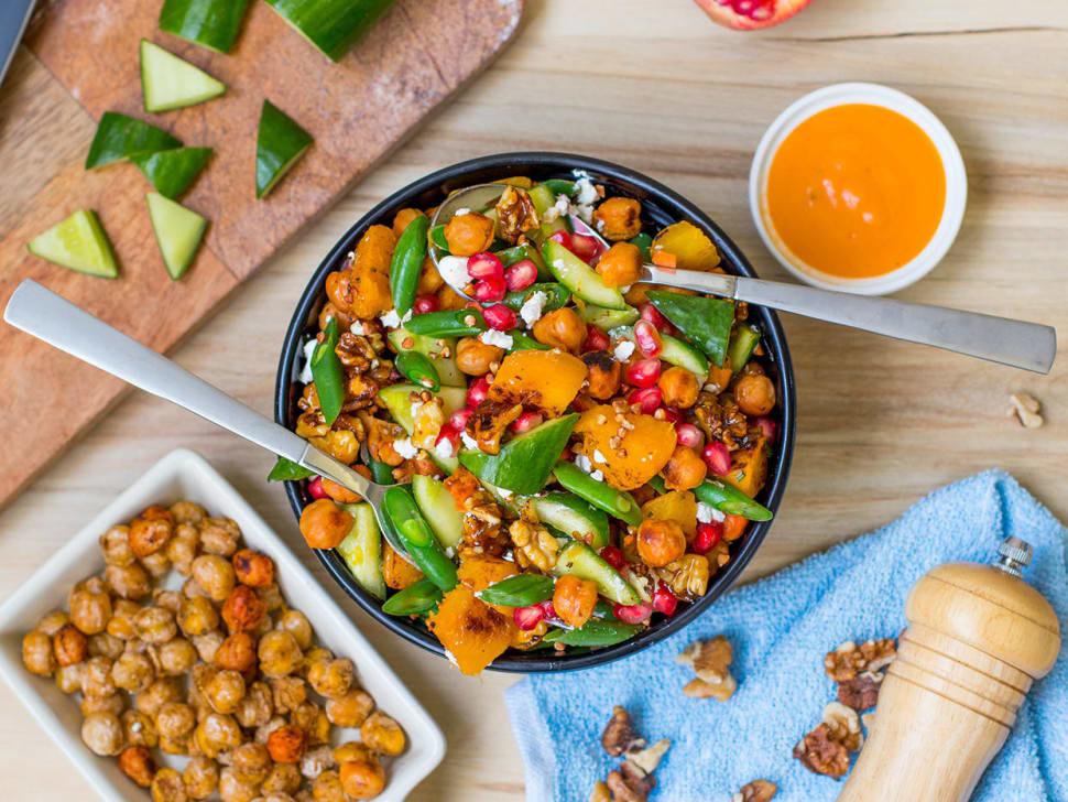 Nordic Chickpea & Roast Pumpkin Salad