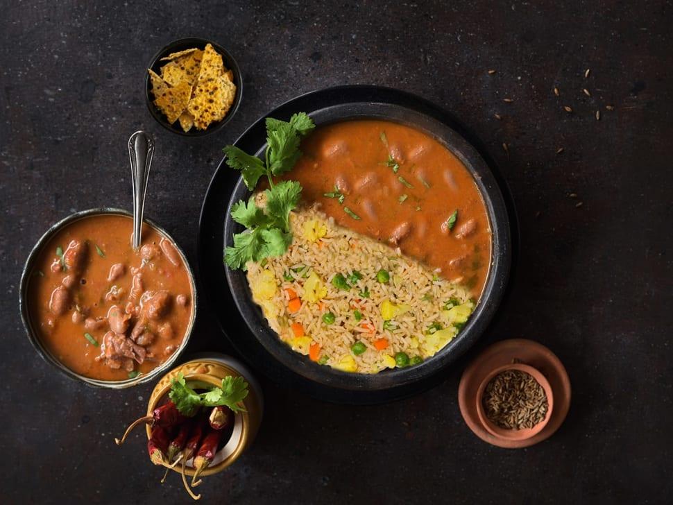 Ghar Ke Rajma & Vegetable Pulao