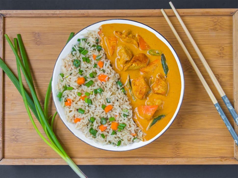 Massaman Chicken Curry & Thai Rice Bowl