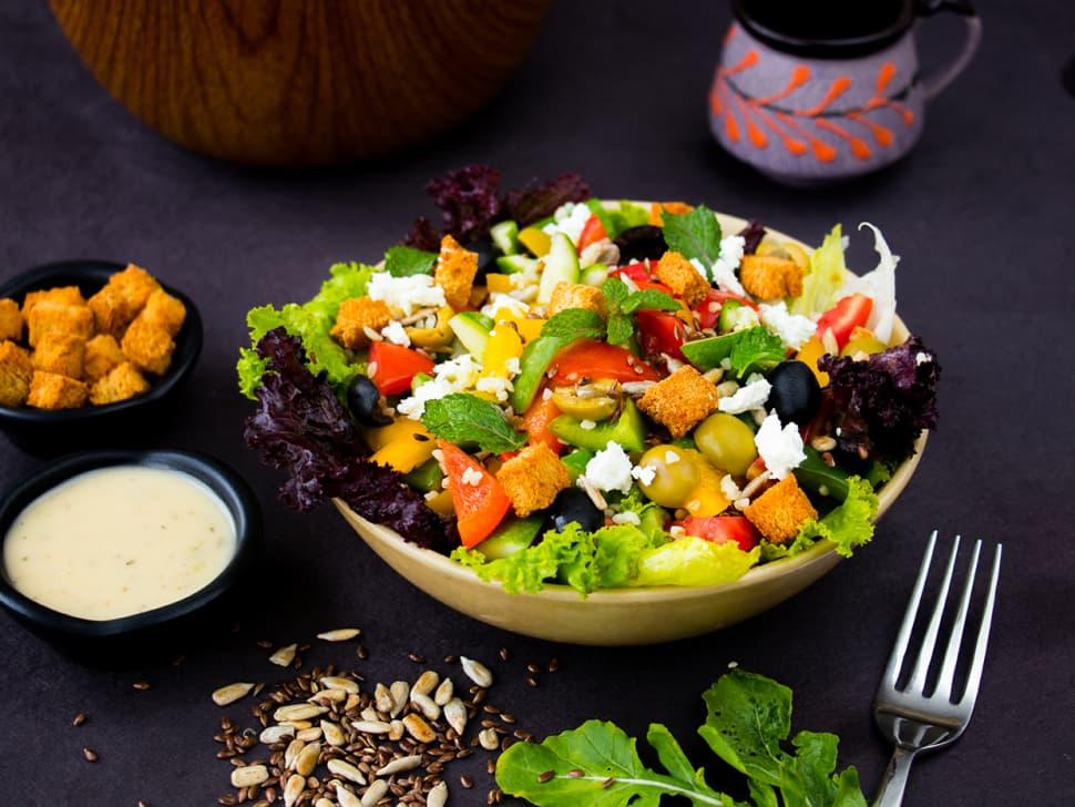 Weight Watch: Feta Cheese Greek Salad