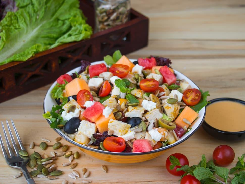 Weight Watch: Feta-Melon, Millet & Chicken Salad