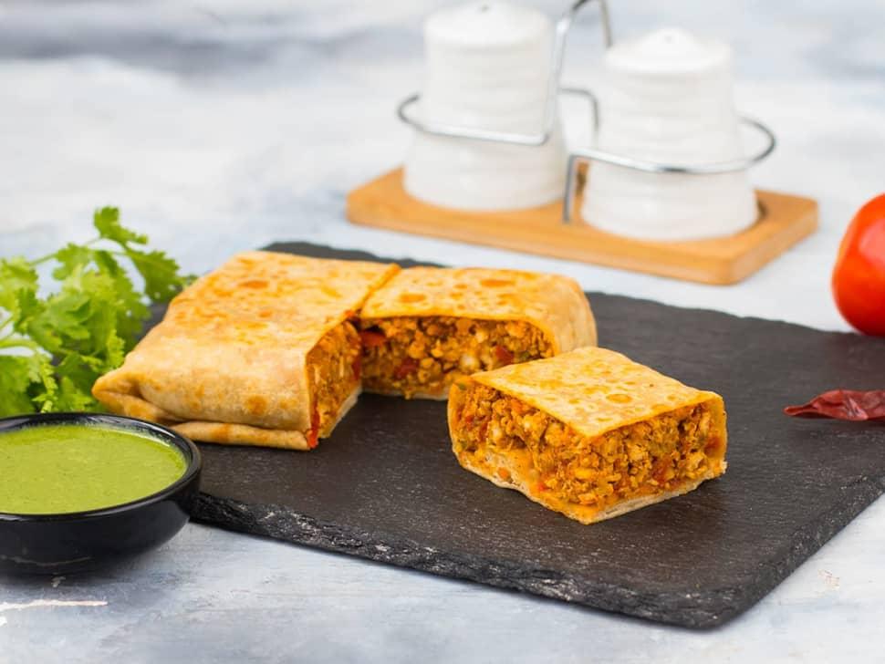 Chicken Keema Parantha Wrap