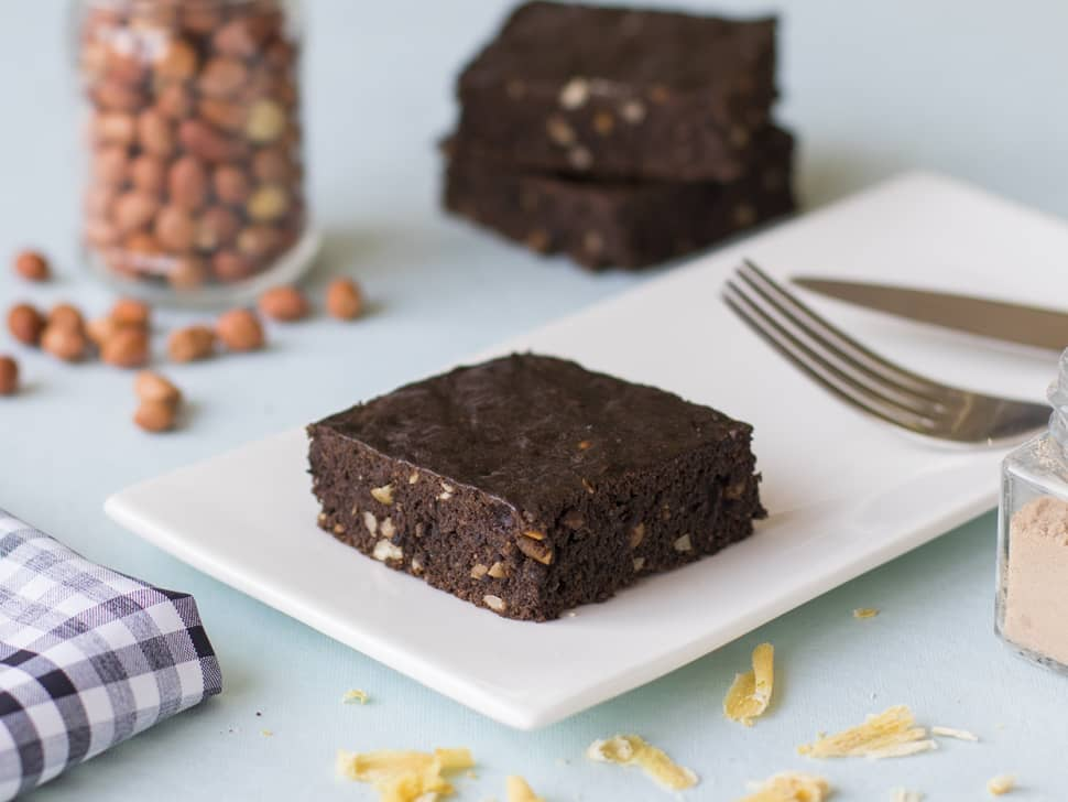 Protein Peanut Brownie (with whey)