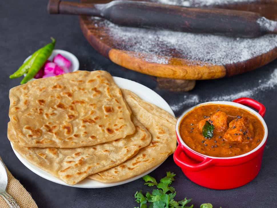 Chicken Chettinad & Tawa Paranthas Meal