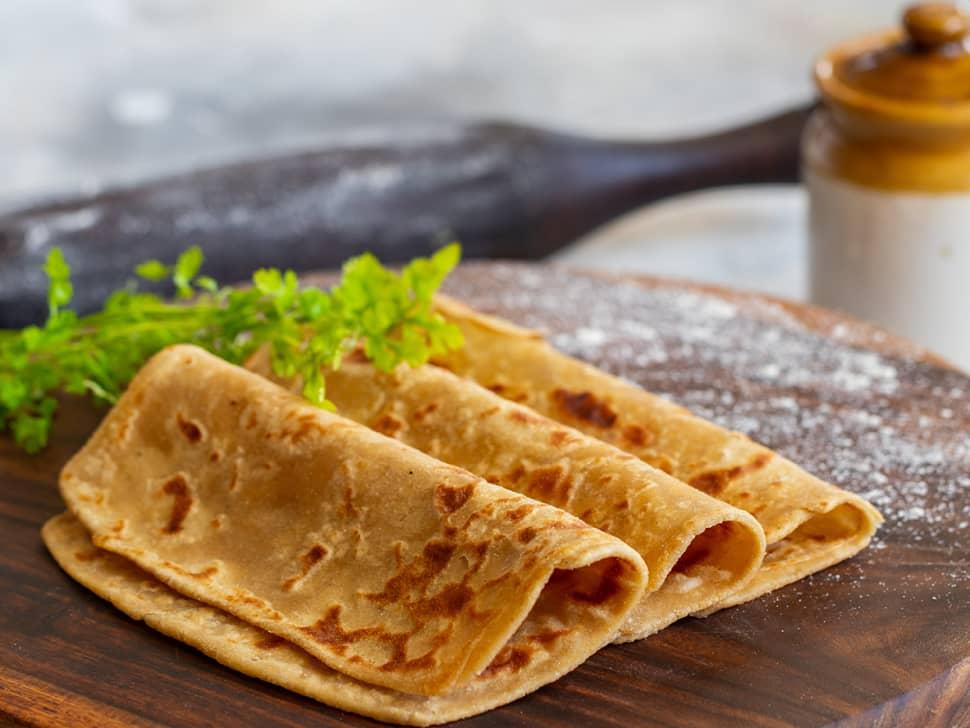Whole Wheat Tawa Parathas (3pcs)