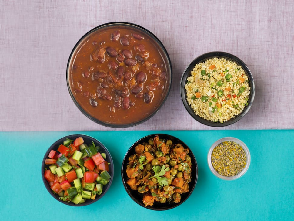 Weight Watch: Millet, Gajar Mattar & Rajma Meal