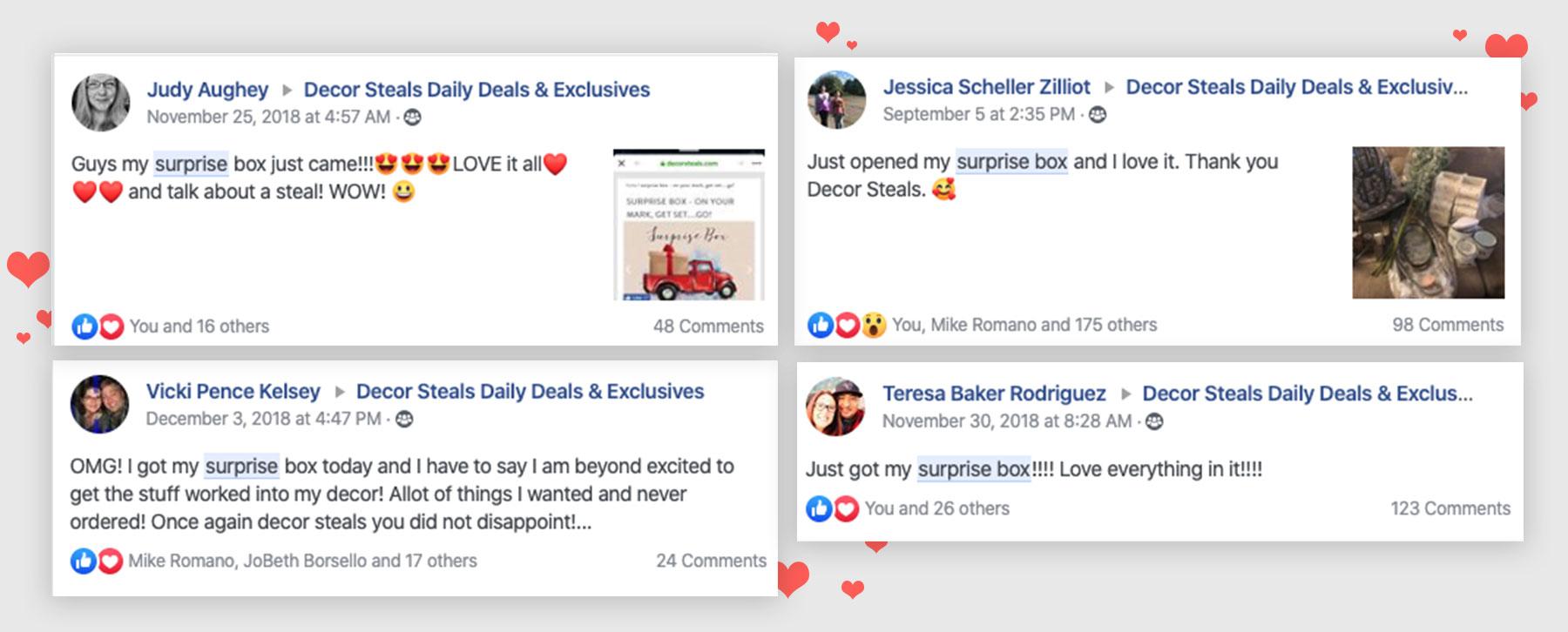 Surprise Box Facebook Reviews