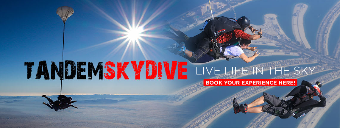 Tandem Skydive At The Palm  Experience