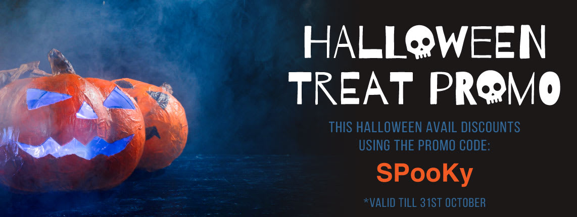 Hallowen Treat Promo Use promo code SPooKy to avail discounts