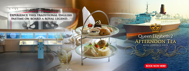 Queen Elizabeth 2 Afternoon Tea with Heritage Tour