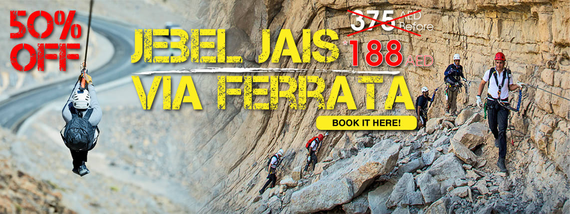 50% Off Via Ferrata