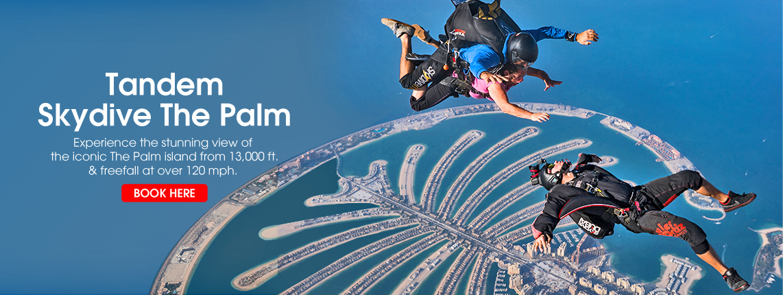 Tandem Skydive The Palm Dubai experience