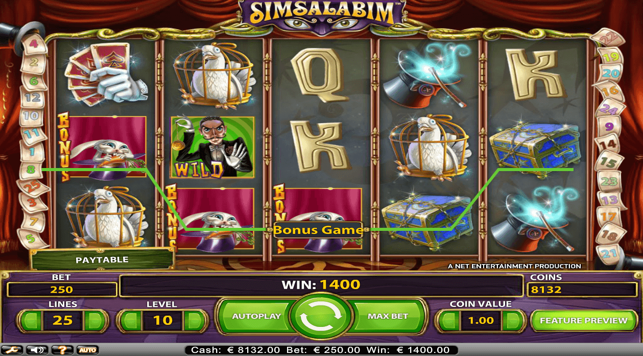 Simsalabim online casino slot from NetEnt