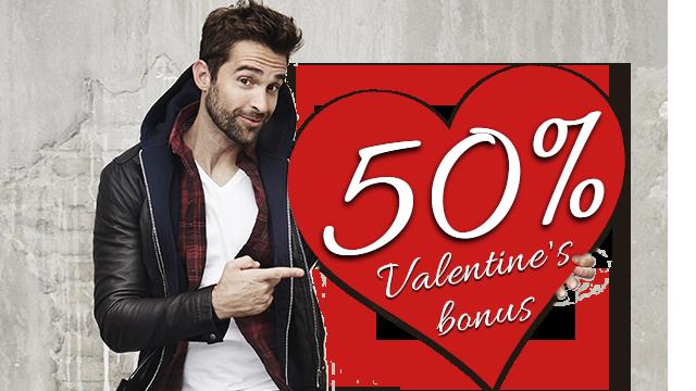 50% Valentine's Bonus