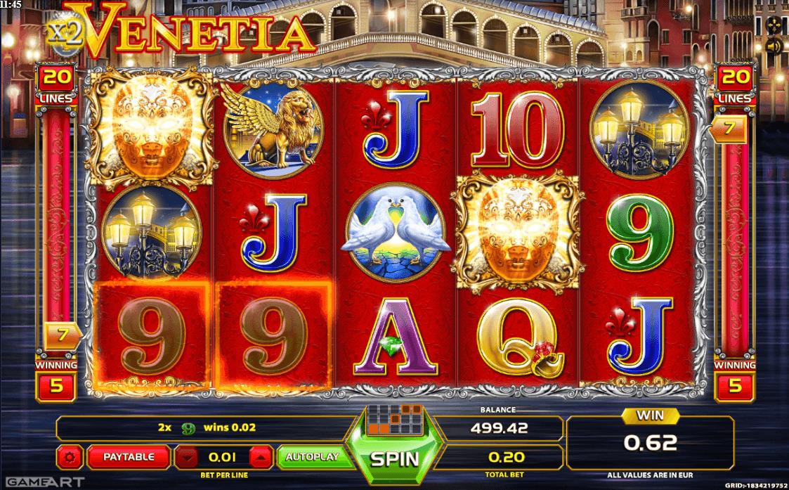 Image featuring online casino slot Venetia
