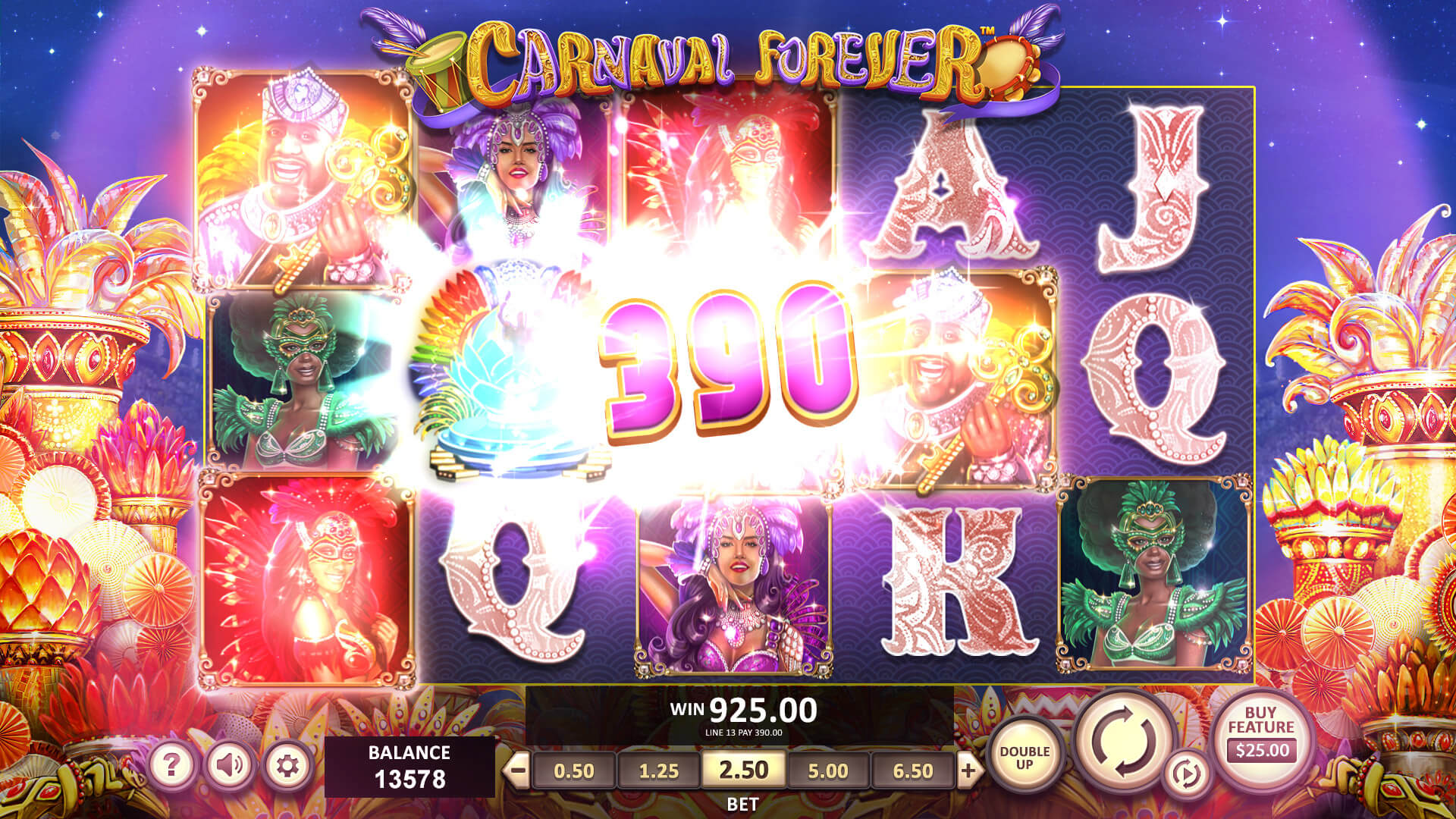Online Casino Slot Carnaval Forever from Betsoft