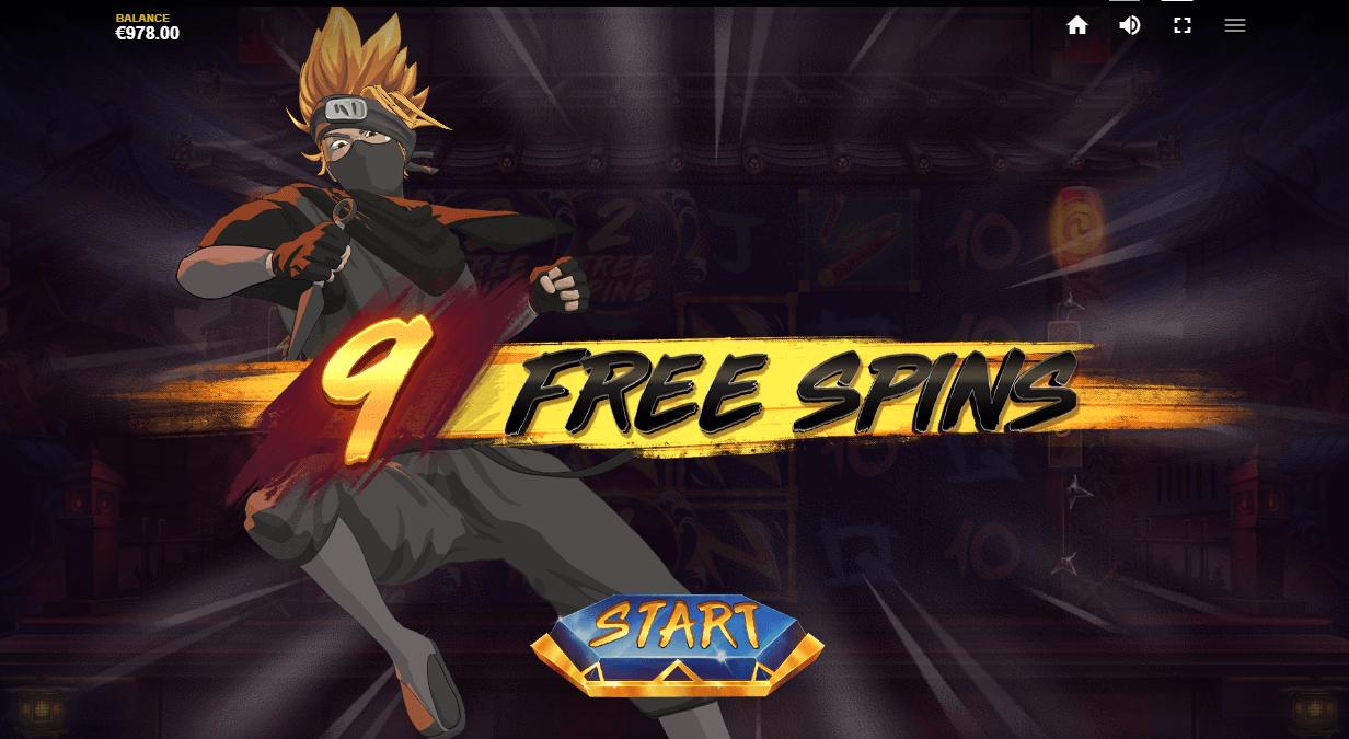 Ninja Wayes online casino slot from Red Tiger