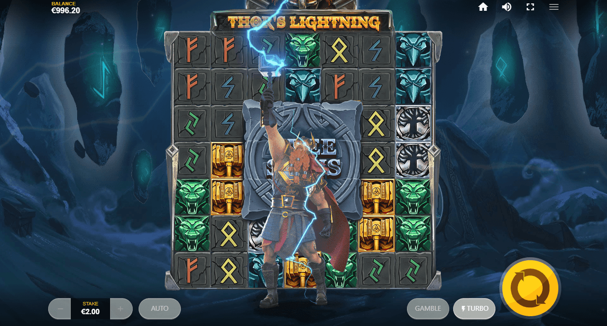 Thor's Lightning online casino slot from Red Tiger