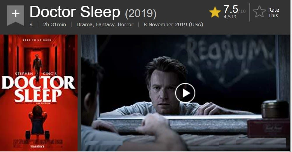 Doctor Sleep full Movie Download online- TamilRockers.
