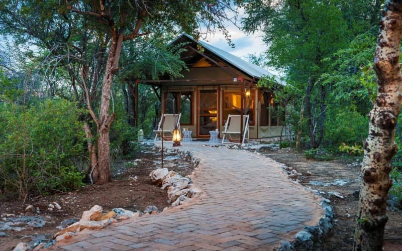 NAMIBIA: Mushara Bush Camp- 2 Night Luxury Tented stay for 2 & Breakfast + Dinner!