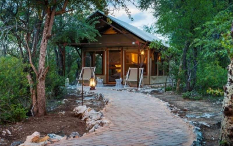 NAMIBIA: Mushara Bush Camp- 1 Night Luxury Tented Stay for 2 & Breakfast + Dinner!