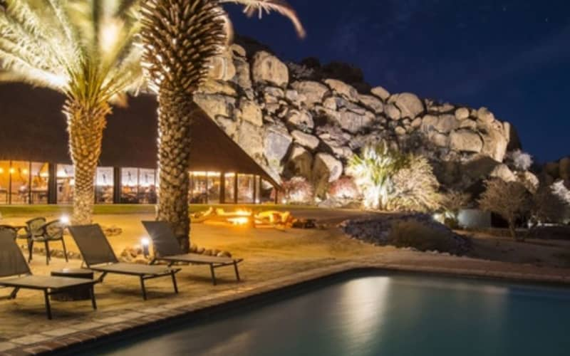 NAMIBIA: Ai Aiba -The Rock Painting Lodge- 1 Night Stay for 2 Including Breakfast + Dinner & Guided Walks!