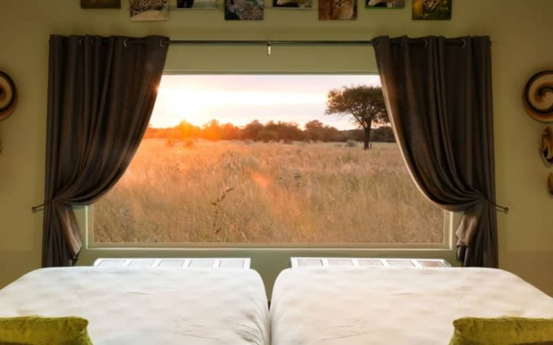 NAMIBIA: OKONJIMA PLAINS CAMP- 1 Night Stay with a view for 2 people + Breakfast + Dinner!