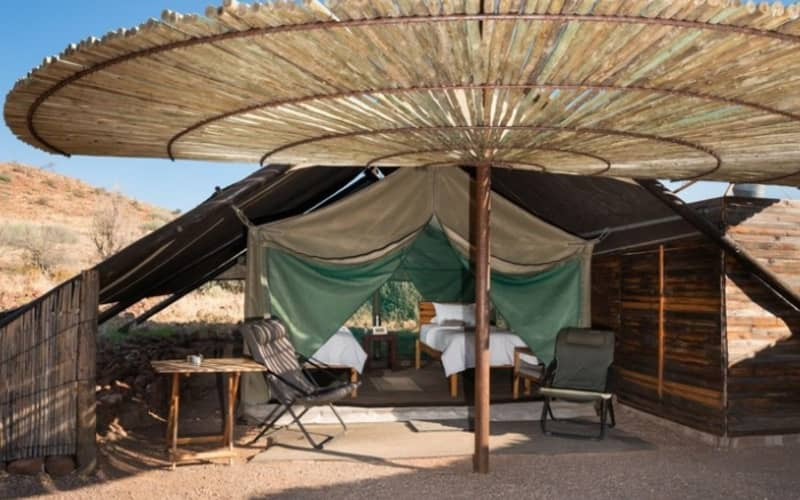 NAMIBIA: ETENDEKA MOUNTAIN CAMP - 2 Nights Stay for 2 + All Meals & Guided Activities!
