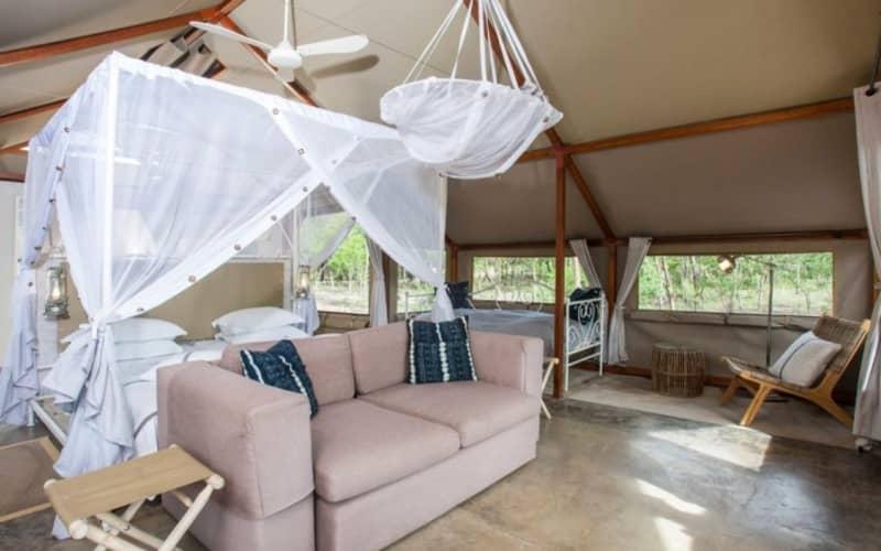 NAMIBIA: Mushara Bush Camp- 1 Night Luxury Tented FAMILY Stay & Breakfast + Dinner!