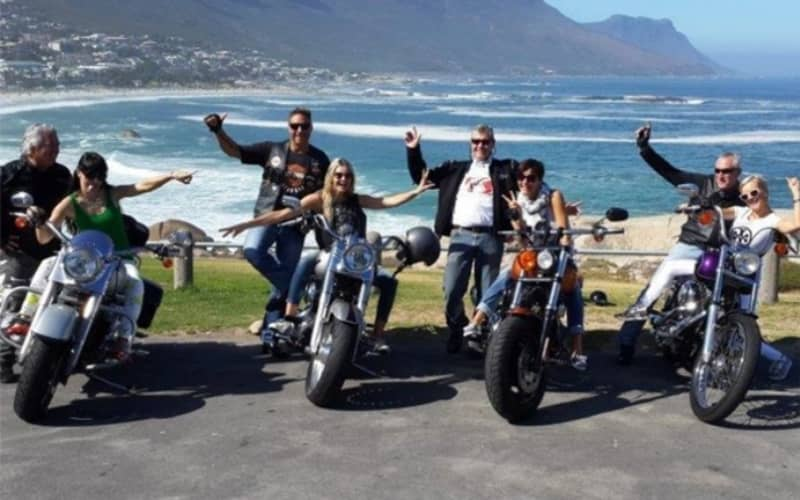 Unforgettable HELICOPTER & HARLEY Experience for 4 people - Ride around the Peninsula on a BIG Twin Fatboy Harley Davidson!