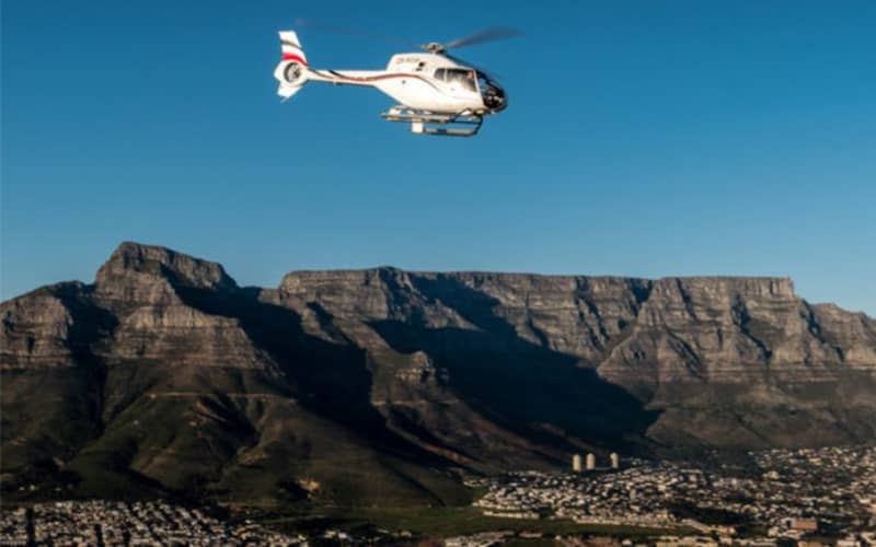 FULL PENINSULA Helicopter Tour of Cape Town for 4 People + FREE City Sightseeing Bus Ticket each!