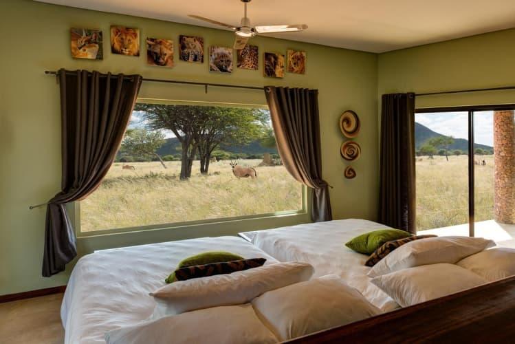 NAMIBIA: OKONJIMA PLAINS CAMP- 2 Night Stay for 2 + Breakfast + Dinner!