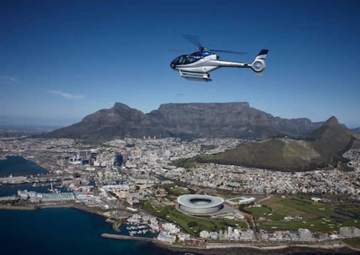 DURBANVILLE Winelands HELICOPTER TOUR for 4 to Durbanville Hills, Meerendal or De Grendel