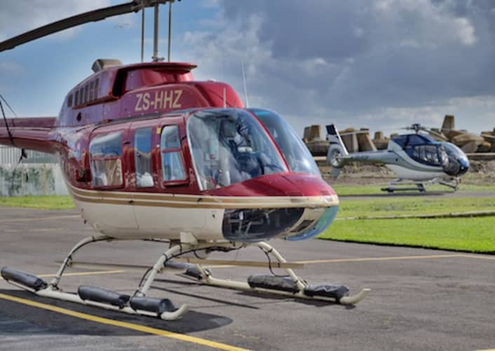 TWO OCEANS Helicopter Tour of Cape Town + FREE Table Bay Boat Safari for 4 people!