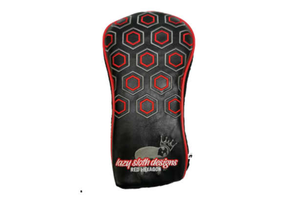 Lazy Sloth Red Hexagon Golf Covers