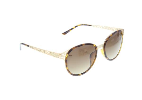 Elle Ladies Acetate Round Sunglasses Brown Frame (Havana)