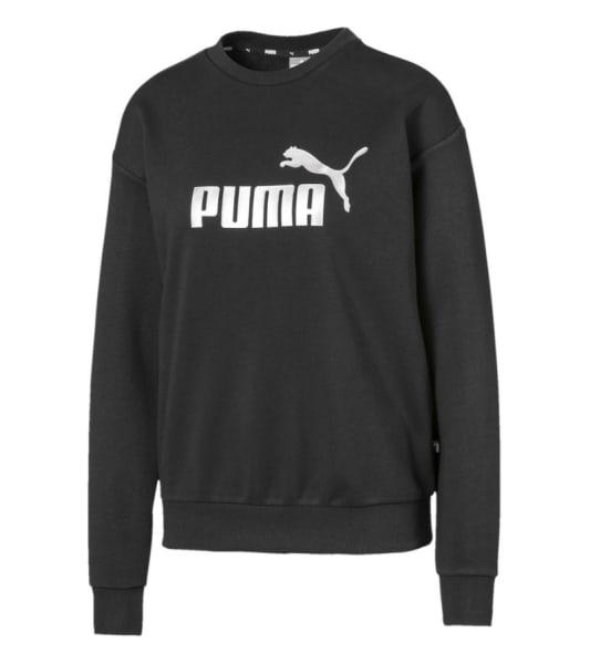 Puma Ladies ESSENTIALS METALLIC Crew Sweater